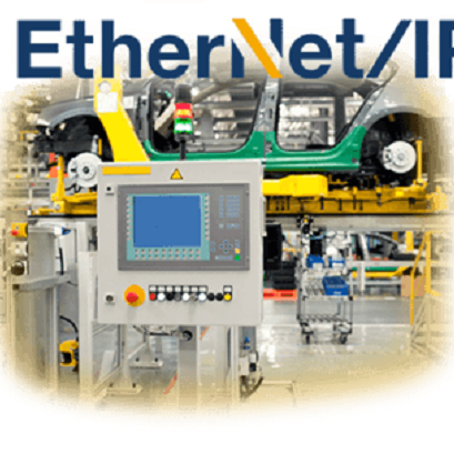 Red industrial Ethernet IP