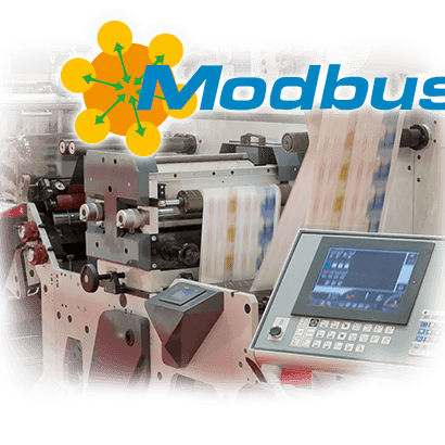 Red industrial Modbus TCP